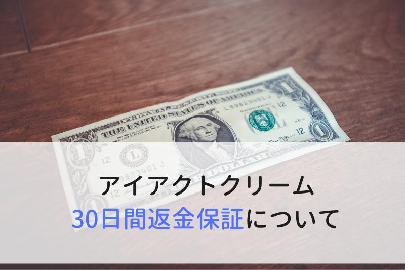 アイアクトクリーム公式定期コースの30日間返金保証について